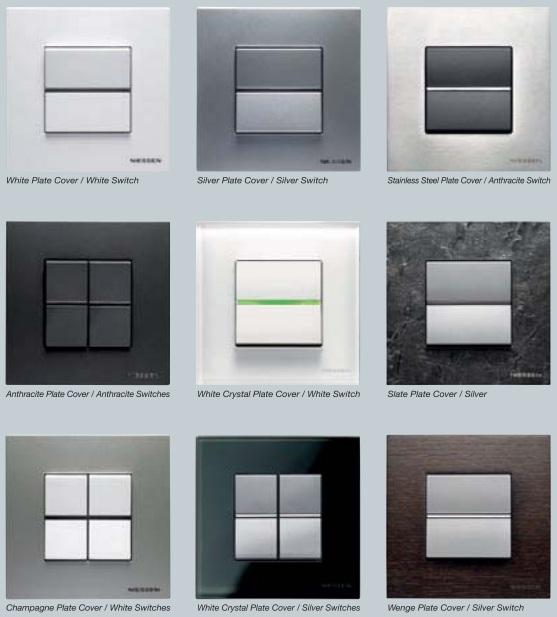Interruptores de diseño Niessen Zenit