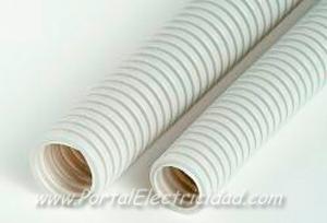 Imagen de un tubo corrugado libre de halógenos